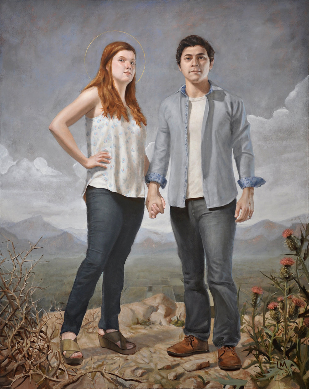 Inseparable (Portrait of artist and wife)