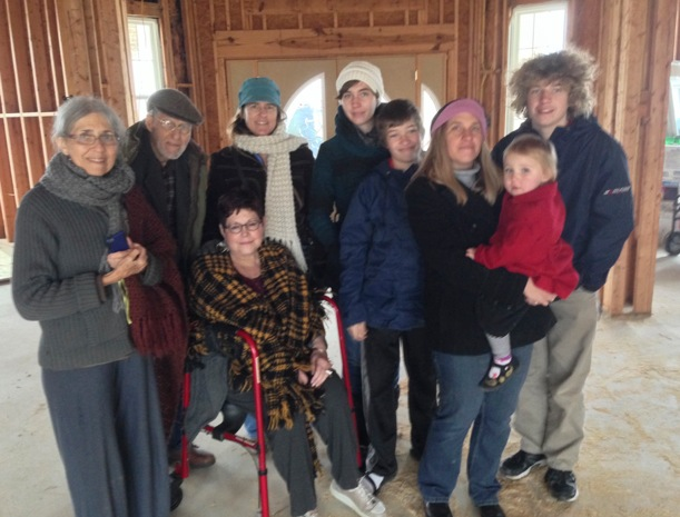 Thomas' sister Christina (center left) visits from Davis, California.