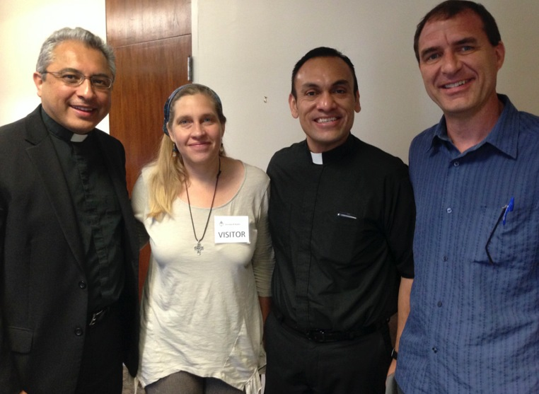 Fr. Danny, Amy, Fr. René Constanza of St. Austin's Paris, and myself