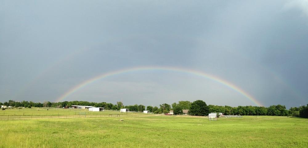 Full double rainbow east of 1704