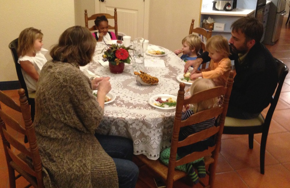 Parents and children gather for Open Table with Marianna