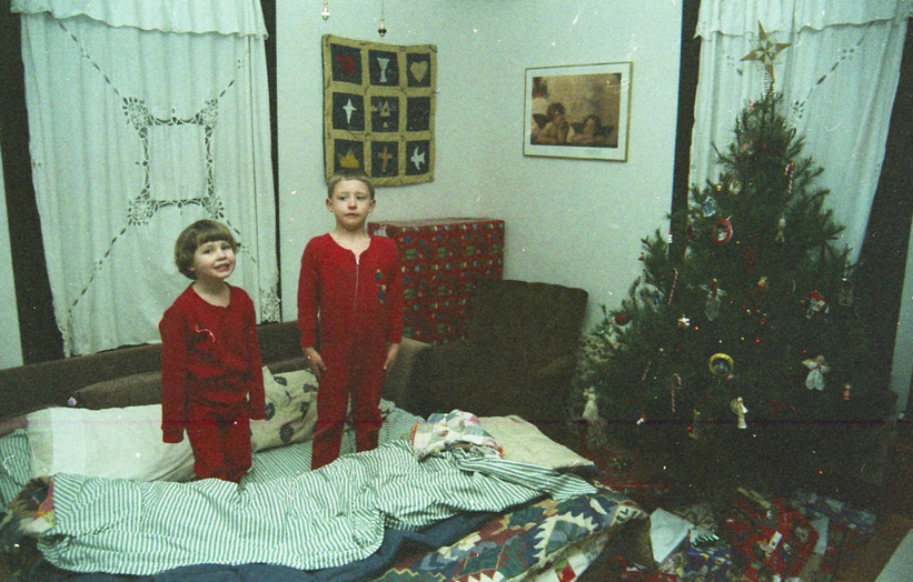 1998 - Sleeping under the Christmas Tree on Christmas Eve