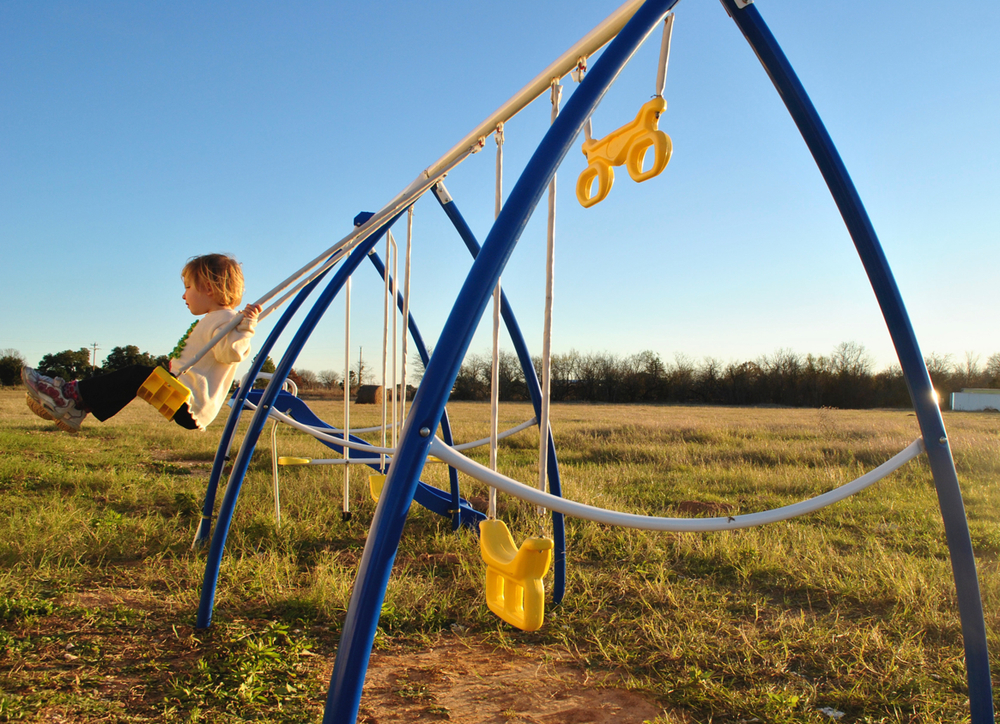 Swings for the young children!