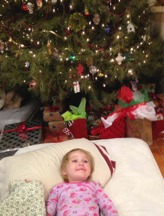 The Cogdell tradition of sleeping under the Christmas tree on Christmas Eve