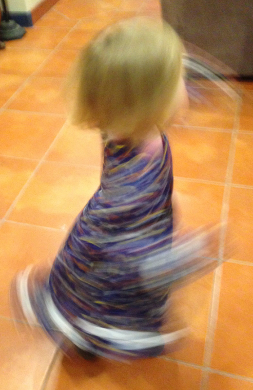 Spinning in a Christmas dress