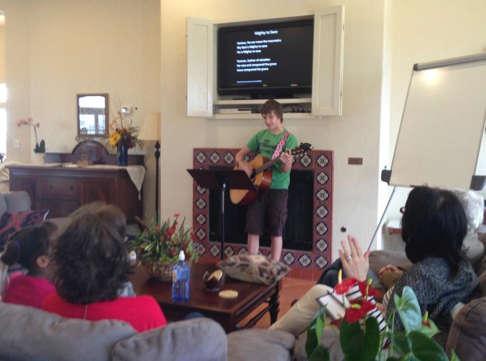 John leading worship