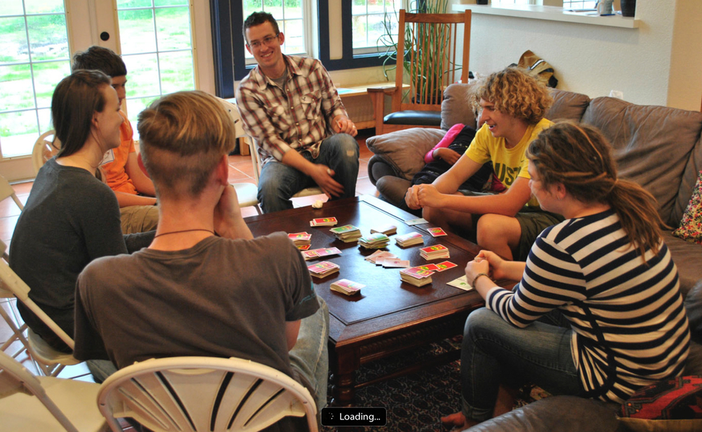Youth playing Apples To Apples