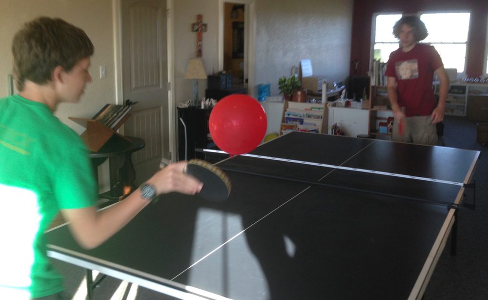 Experimenting with balloon ping pong
