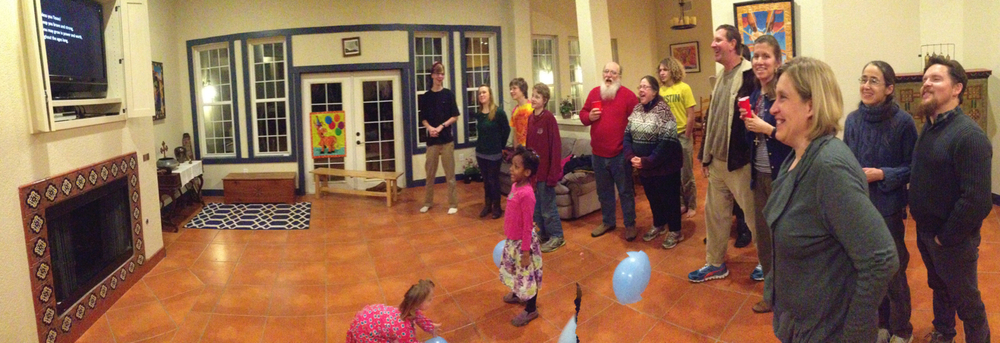 Singing the Texas state song on March 2, during Thomas & Phillip's birthday party