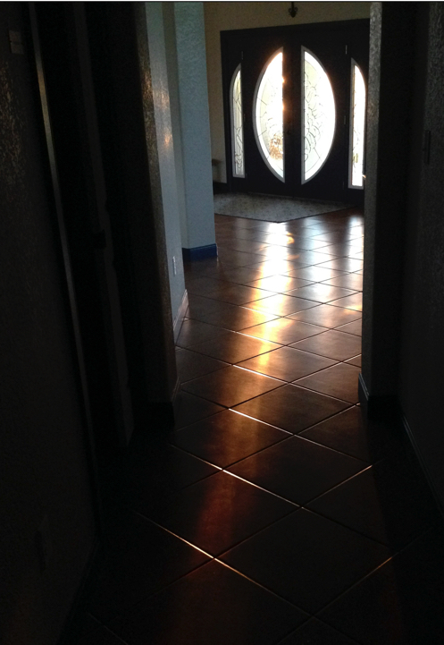 Dawn light coming down the hall to the residential area in CTR