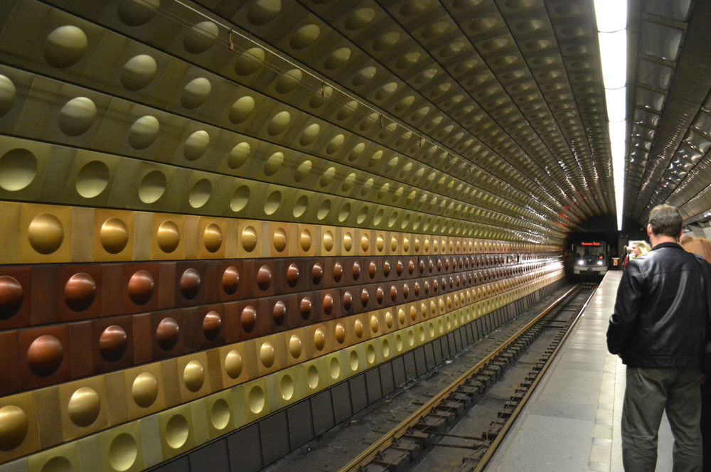 Prague subway station