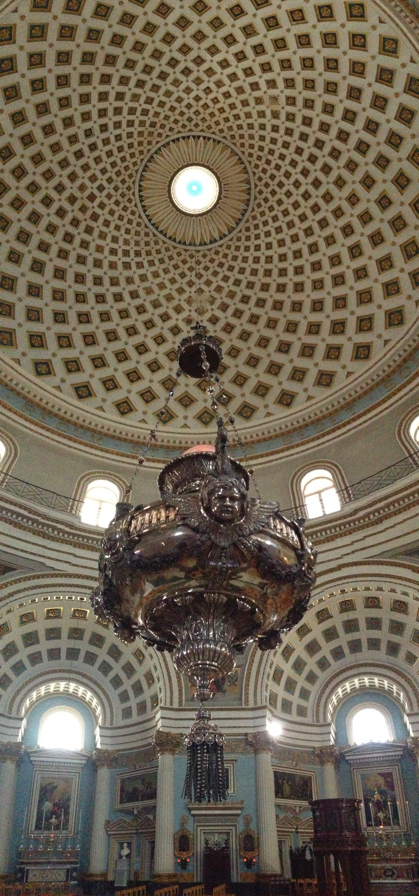 Censor hanging from the Mosta Dome, Malta