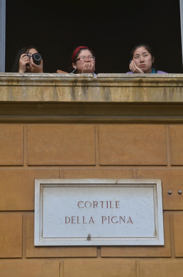 3 Rome tourists, Vatican City