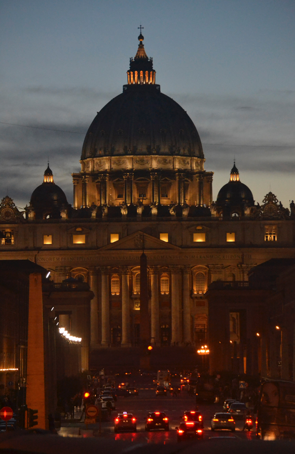 St. Peter's at night, Rome