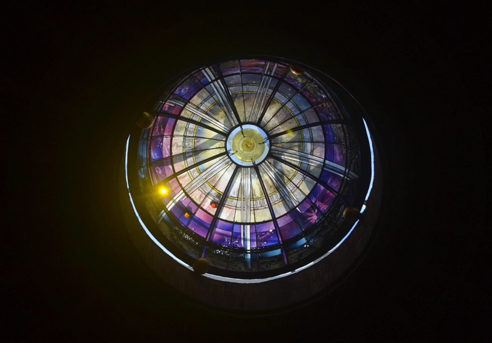 Stained glass dome, Church of St. Mary of the Angels & Martyrs, Rome