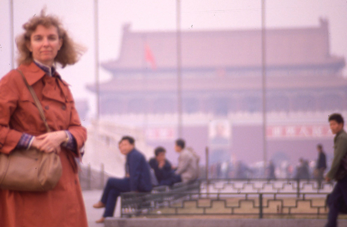 My Aunt Dori at Tian An Men Square, Beijing, China, 1988
