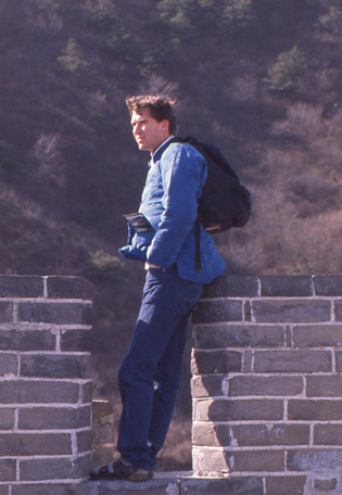 Me at the Great Wall of China, 1988