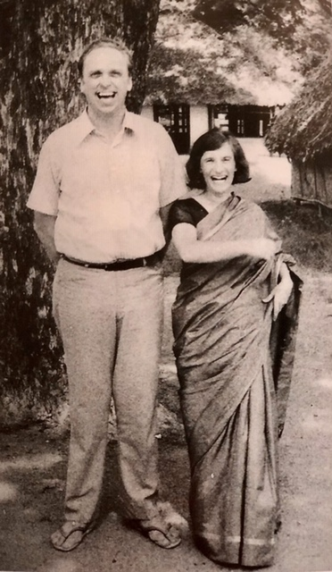 Hanna and George in India, fifteen days married.