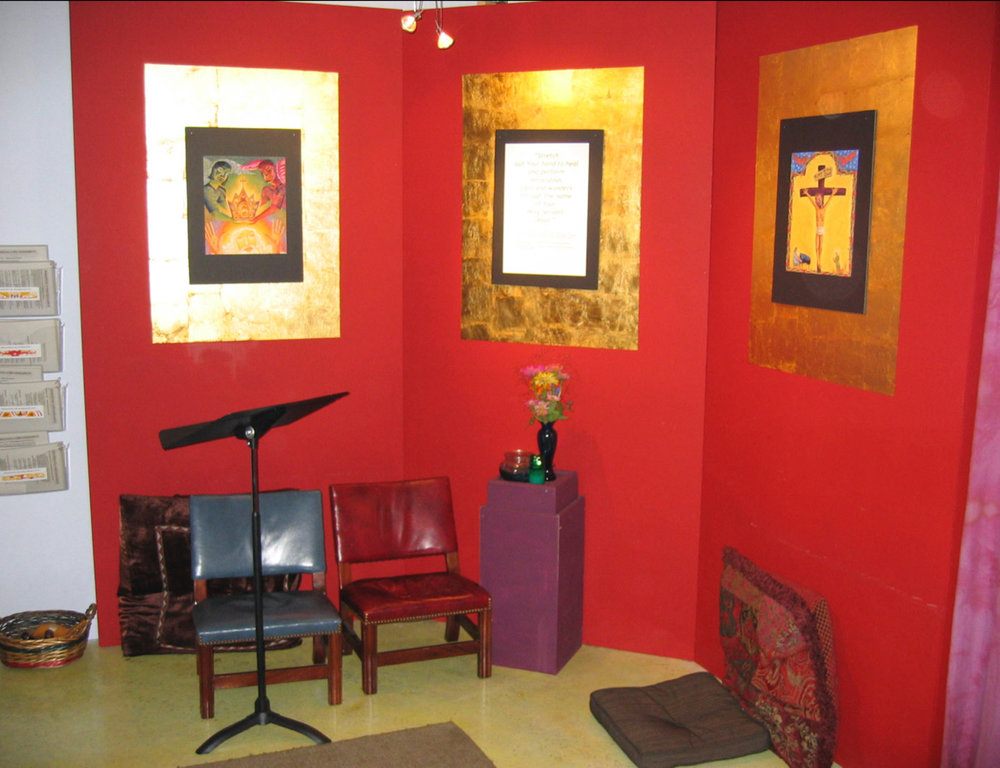 The first AHOP prayer room, designed by Jim Janknegt.