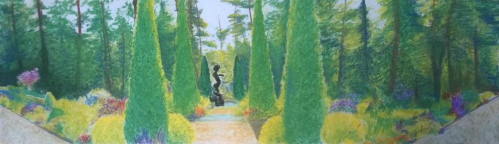 [SOLD] Princeton, Prospect Garden, 14 x 42 inches