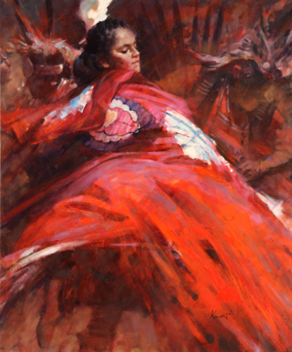 Red Cape, 2009, Victoria, B.C. Oil on Canvas, 24 x 20 inches.
