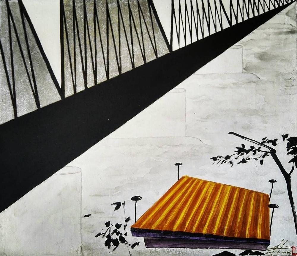 [SOLD] Bridge Street, 24 x 28 x 0.75 inches