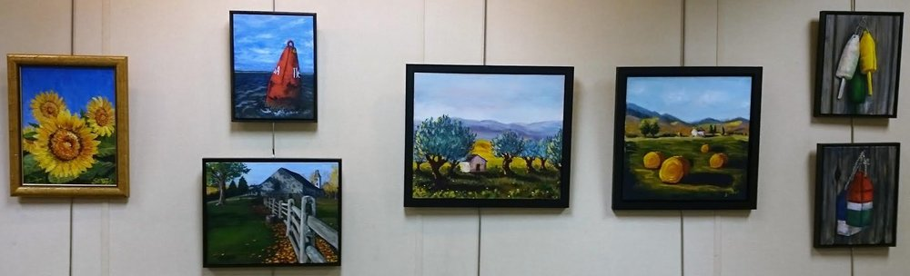 Image captured from Jill's previous exhibitions and only partially representative of her coming exhibition. Please visit library  website  for directions and our  Artists  page for Jill's bio.