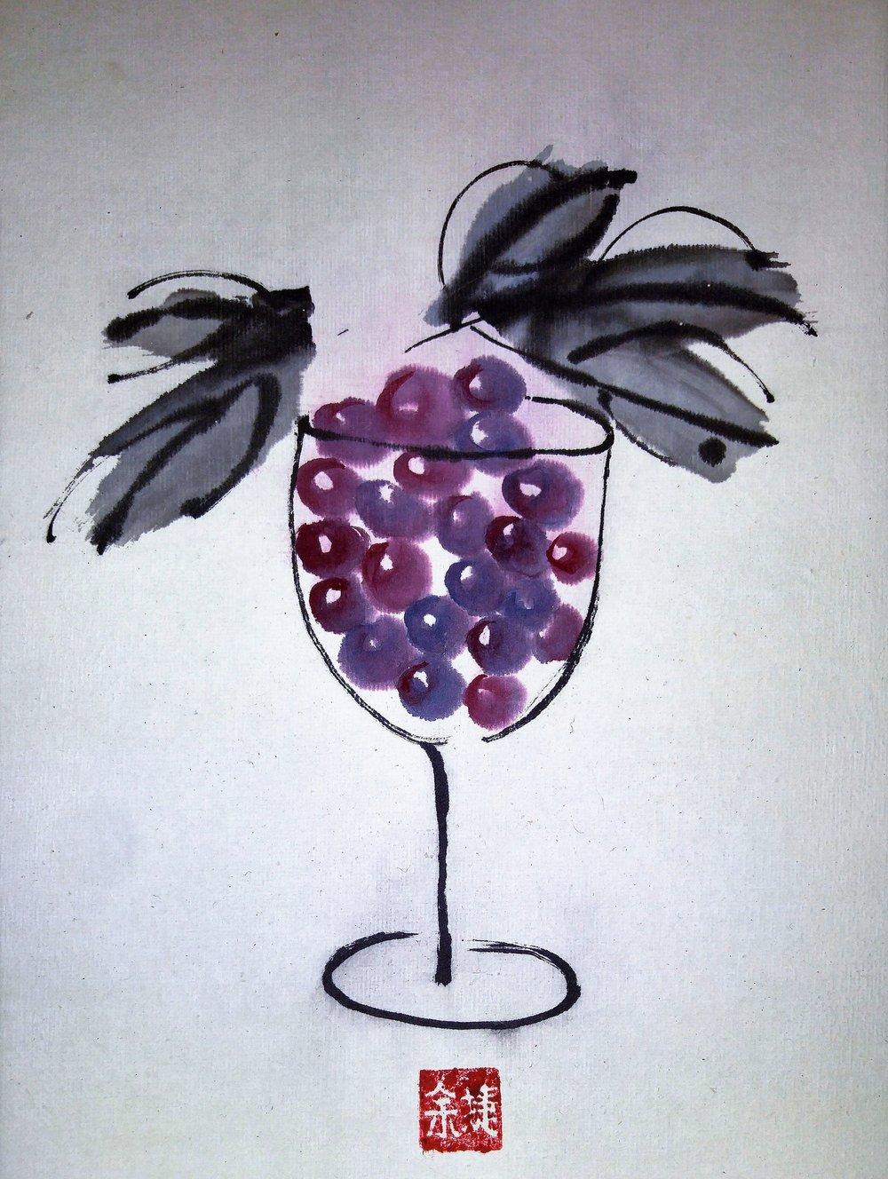 [SOLD] Vino, 9 x 12 x 0.75 inches