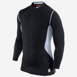 This Dri-Fit shirt is perfect for wearing under layers to keep you warm and sweat-free on the bike path