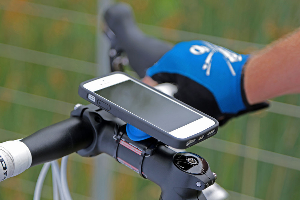 http://www.quadlockcase.com/collections/products/products/iphone-5-bike-mount
