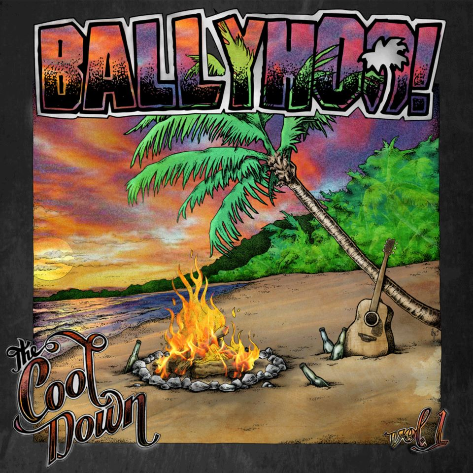 "Ballyhoo ""The Cool Down: vol 1"" cover art by Kc Cowan."