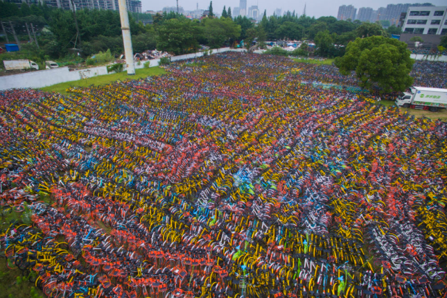 Thousands of bikes with no place to go in China