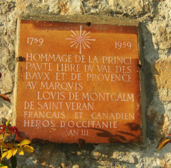 A plaque in the hamlet to remind the visitor Montcalm was the Lord of Saint-Véran
