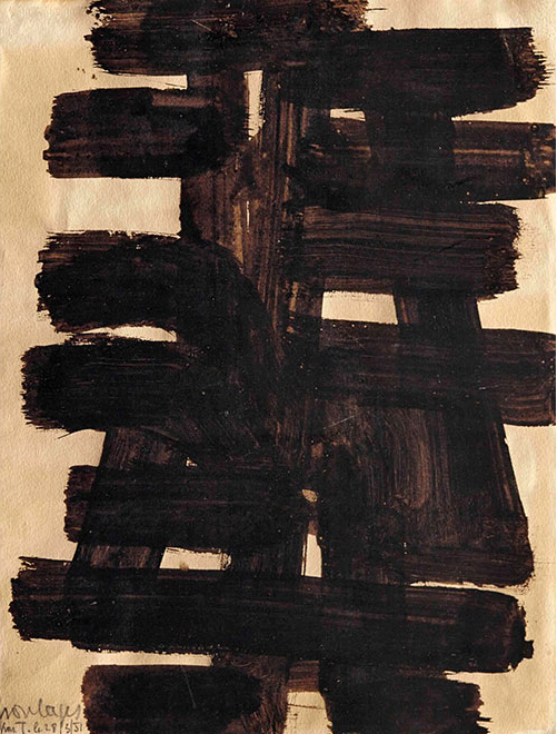 Brou de noix, (walnut stain on paper, 1949)