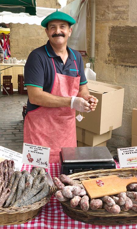 Market day in Villefranche-de-Rouergue.