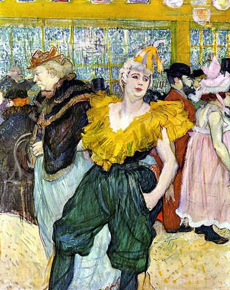 The dancer Cha-U-Kao by Toulouse-Lautrec