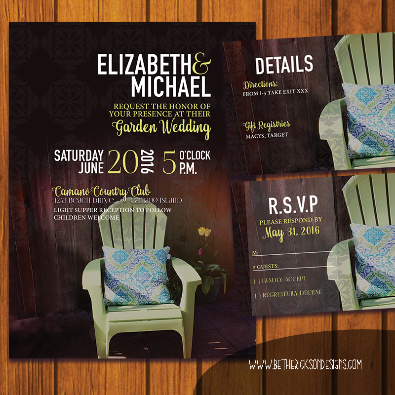 Backyard Garden Wedding Invitation