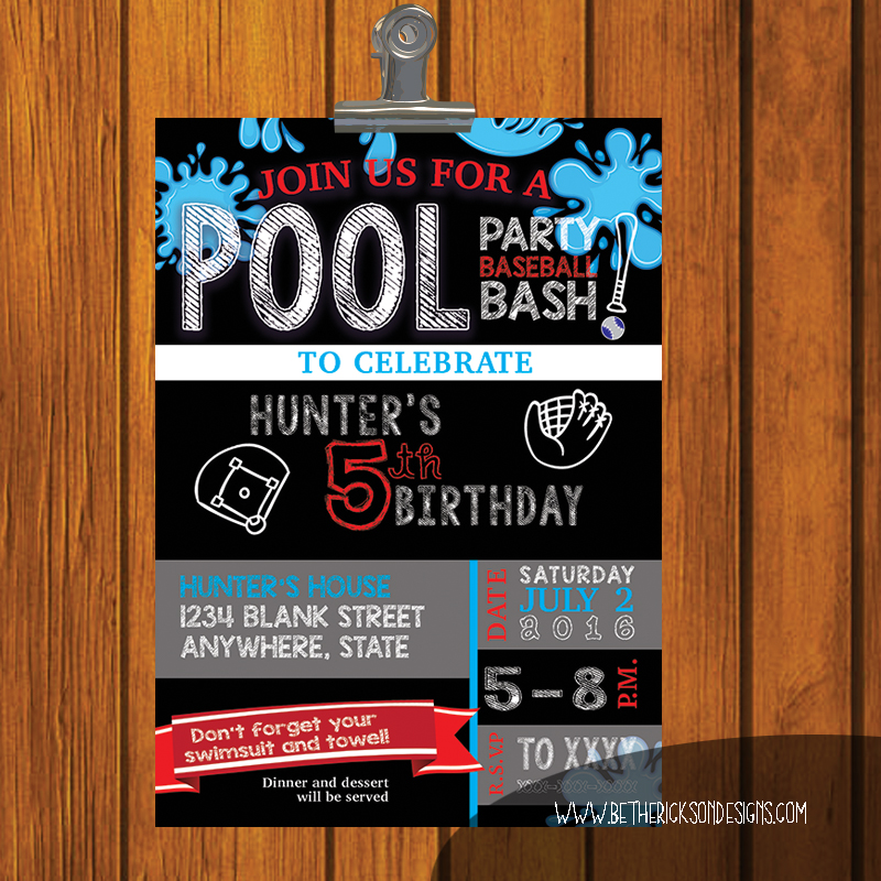 Boy's Hockey Party Birthday Invitation