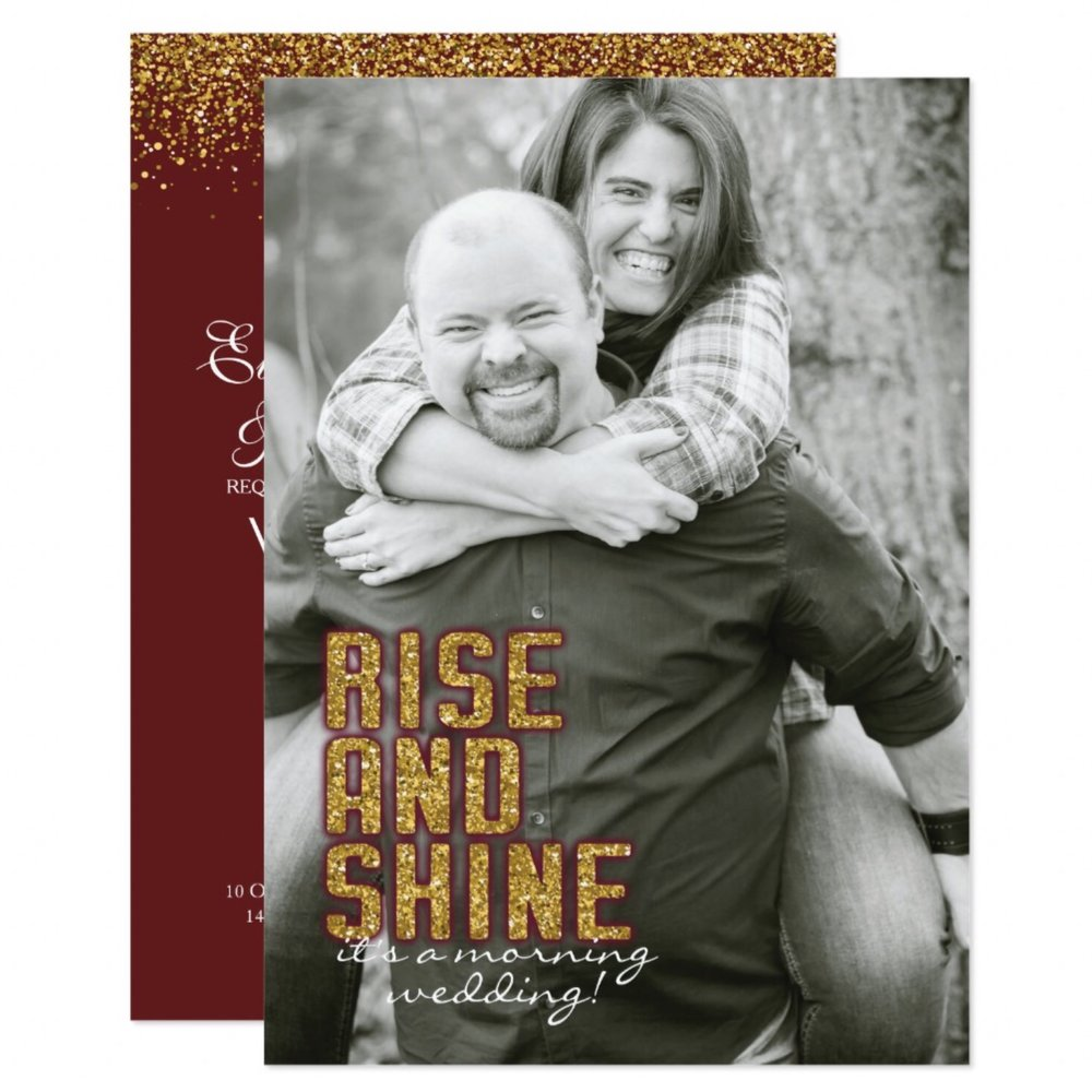 Rise and Shine Brunch Wedding Invitation