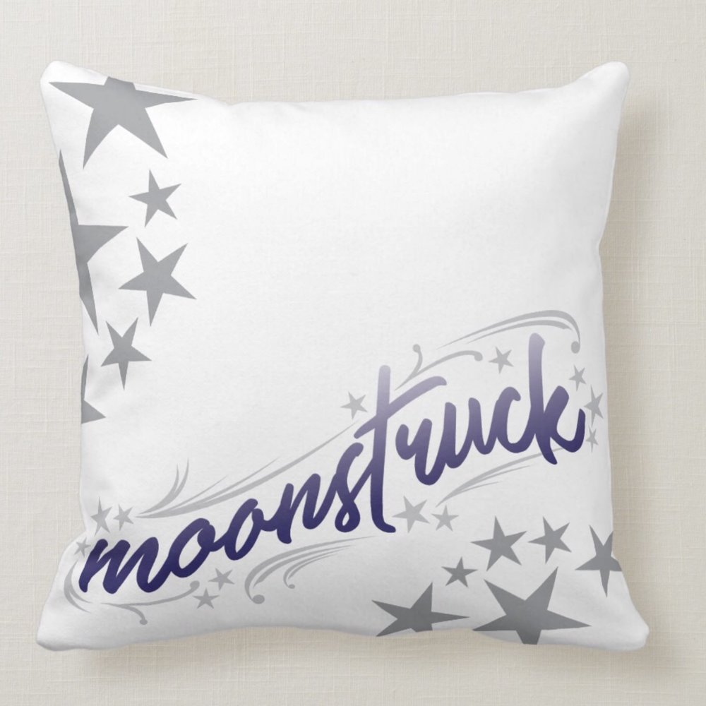 Moonstruck Throw Pillow - celestial