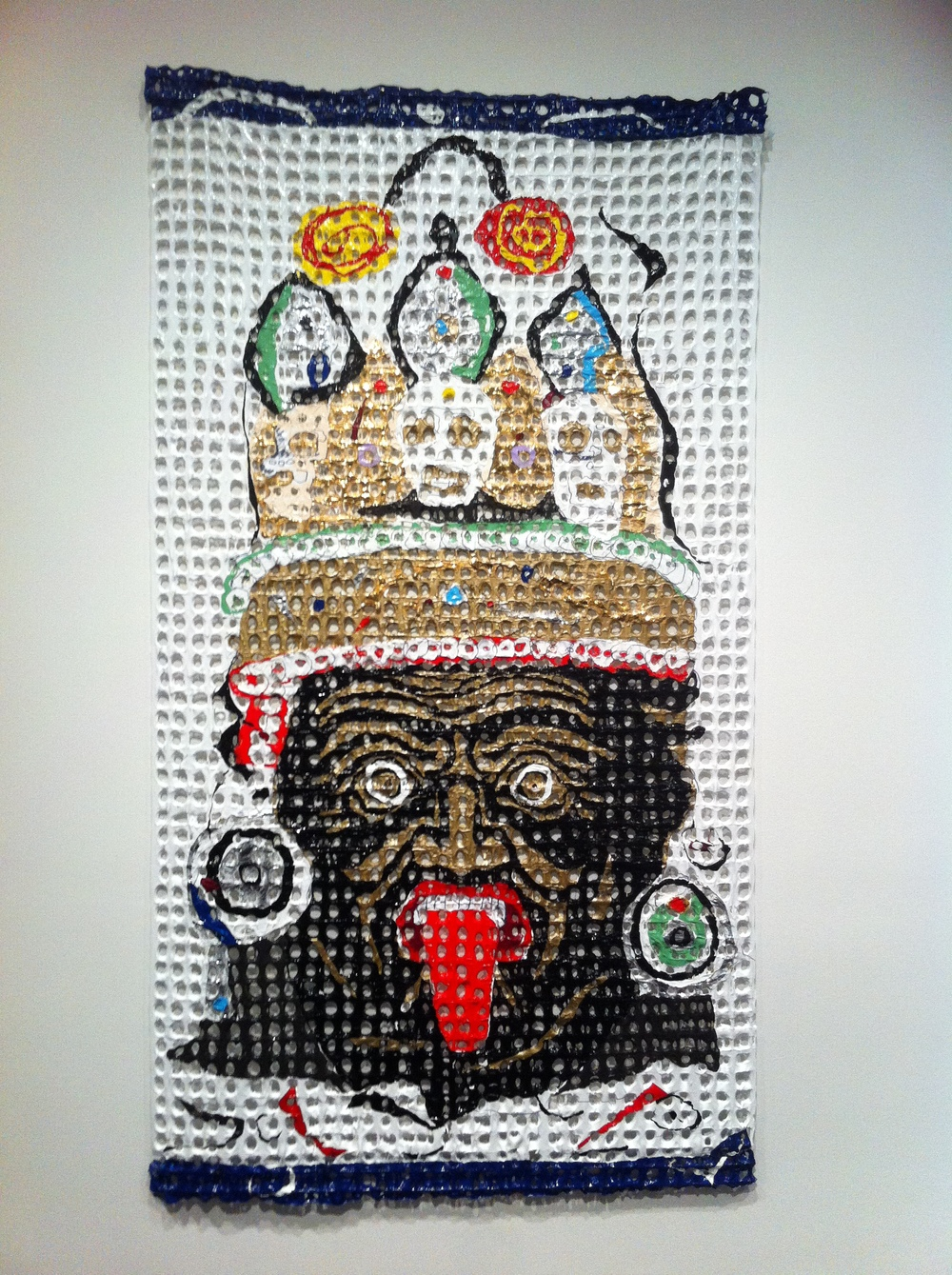 6. Kesang Lamdark, Dorge Drakkten and Kiss, 2012. Melted plastic, acrylic and metallic foil. CU Art Museum