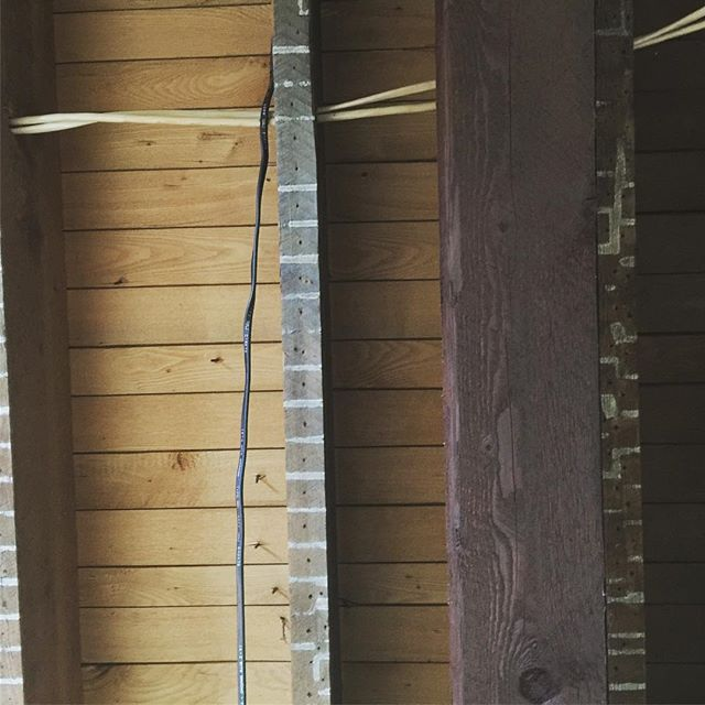 Marked to measure. Hand cut wood. Circa 1935. Found during ceiling demolition this week. #farmhouseliving #farmhouserenovation #gaylordmichigan #exposedbeams #interiordesign #historichome #northernmichigan #oldmeetsnew Special thanks to our #incrediblytalented #woodworking #lightingexpert #plumbingadvisor @stevesheneman without you this dream is dust.