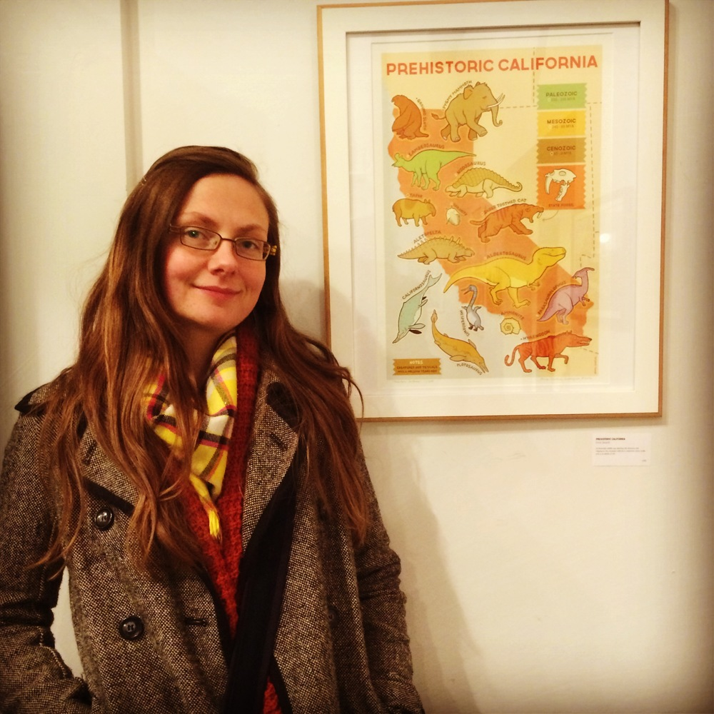 At the  California Printed  opening on January 10, 2014. Framed and unframed prints are available from Rare Device.