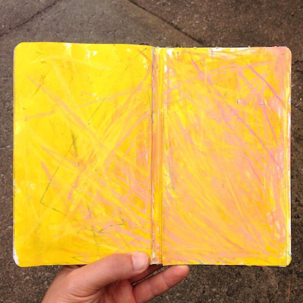 Day 5 of #100daysofabstractworkk, a little sunshine on a rainy day,   #art #color #colorpop #yellow #abstractexpressionism #sketchbook #moleskine #moleskineart #abstractart #pcj30in30 #watercolorpencils #oilpastel #100dayschallenge #100daysofpainting #100daysofdrawing  (at Lexington, Kentucky)