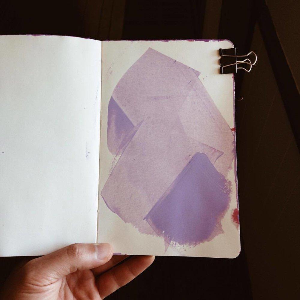 #sketchbook #moleskine #abstractart #abstractpainting  (at Lexington, Kentucky)