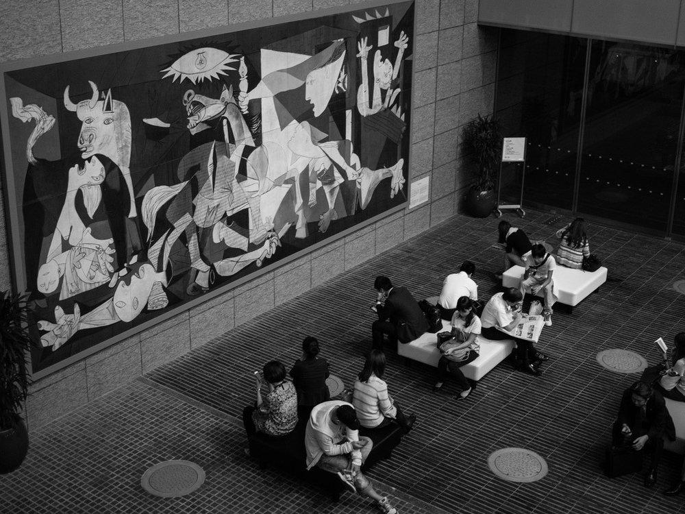 """""""Guernica"""" in Tokyo, Japan."""