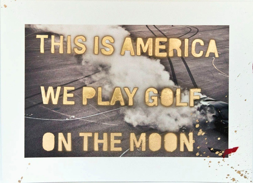 This is America, we play golf on the moon.   (via  GSP 2 )