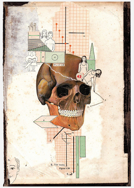 oxane :      Something in my head.  by  Cristian Escobar    Handmade Collage.  Check it out  Here.