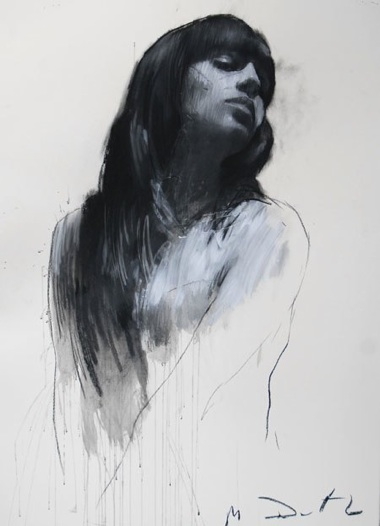 kaylaaanicole :     Mark Demsteader  Natalie turning to profile  Pastel & Collage  32ins x 44ins