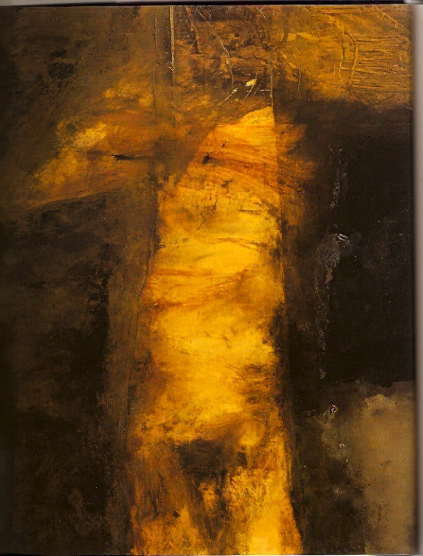 schmudde :     Distortion can often show what is happening within with more clarity.   ~ü   [Painting: Hughie O'Donoghue depicts The Passion of Christ]